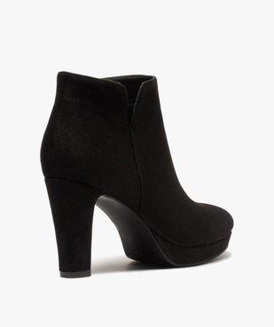 Low-boots femme à talon dessus en suédine unie vue4 - GEMO(URBAIN) - GEMO