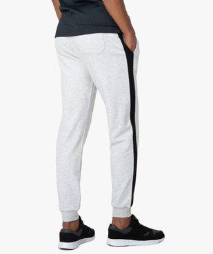 Pantalon de jogging homme avec bandes sur les côtés  vue3 - GEMO C4G HOMME - GEMO