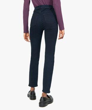 Jean femme slim taille haute extensible vue3 - GEMO C4G FEMME - GEMO