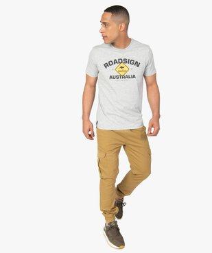 Pantalon homme cargo à taille élastiquée - Roadsign vue5 - ROADSIGN - GEMO