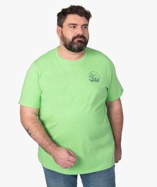 Tee-shirt homme avec macaron fantaisie vue1 - GEMO (G TAILLE) - GEMO