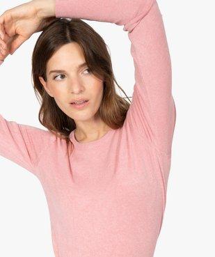 Pull femme en maille fine à col rond et boutons sur les épaules vue1 - GEMO(FEMME PAP) - GEMO