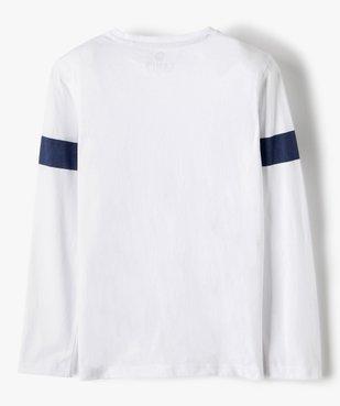 Tee-shirt garçon à manches longues imprimé patiné - Camps vue3 - CAMPS UNITED - GEMO
