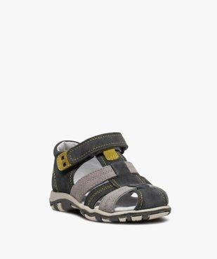 Sandales garçon à scratch à brides multiples en cuir vue2 - Nikesneakers (ENFANT) - Nikesneakers