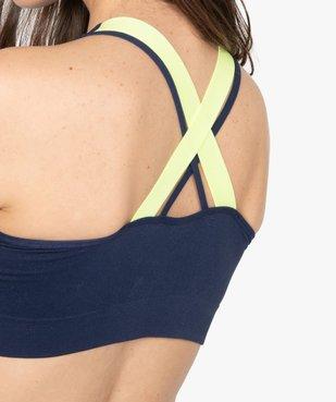 Brassière femme spéciale sport avec dos croisé - Reebok vue2 - REEBOK - GEMO