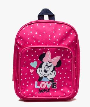 Sac à dos fille zippé motif étoiles - Minnie Disney vue1 - MINNIE - GEMO