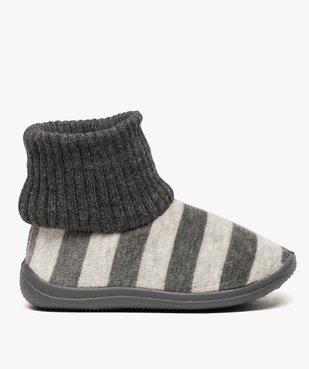 Chaussons bébé à rayures avec tige façon chaussettes vue1 - GEMO (ENFANT) - GEMO