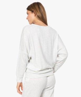 Haut de pyjama femme à manches chauve-souris vue3 - GEMO(HOMWR FEM) - GEMO