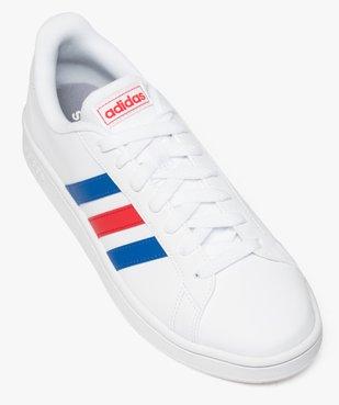 Baskets homme à lacets bandes bicolores - Adidas Grand Court Base vue5 - ADIDAS - GEMO
