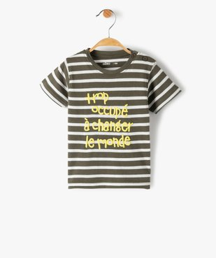 Tee-shirt bébé garçon à manches courtes avec motifs vue1 - GEMO C4G BEBE - GEMO