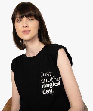 Tee-shirt de grossesse avec col rond et épaulettes vue5 - GEMO (MATER) - GEMO