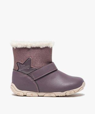 Boots bébé fille zippées fourrées sherpa – Geox vue1 - GEOX - GEMO