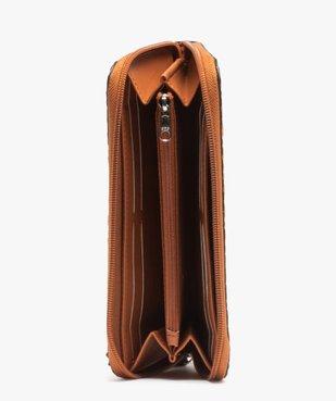 Portefeuille femme en matière texturée à motifs rosaces vue3 - GEMO (ACCESS) - GEMO