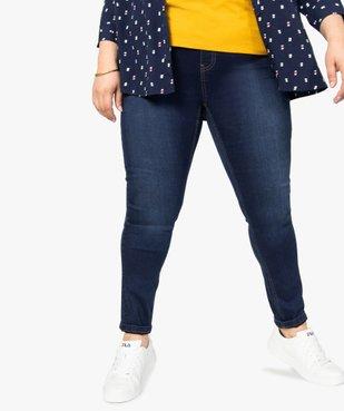 Jegging femme taille normale en coton stretch vue1 - GEMO (G TAILLE) - GEMO