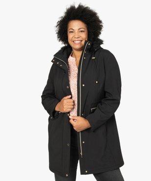 Manteau femme à capuche fantaisie et touches métalliques  vue2 - GEMO (G TAILLE) - GEMO