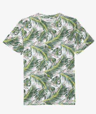 Tee-shirt garçon avec imprimé tropical vue1 - GEMO (JUNIOR) - GEMO