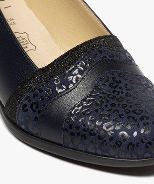 Escarpins confort femme en cuir imprimé vue6 - GEMO (CONFORT) - GEMO