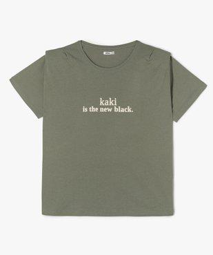 Tee-shirt femme imprimé avec petites épaulettes vue1 - GEMO (G TAILLE) - GEMO