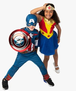Déguisement enfant Captain America - Marvel (2 pièces : costume + cagoule masque) vue5 - MARVEL - GEMO