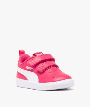 Baskets bébé bicolores à scratch – Puma Courtflex vue2 - PUMA - GEMO
