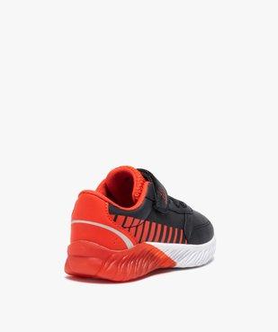 Baskets garçon bicolores à scratch + sac de gym offert vue4 - GEMO (ENFANT) - GEMO