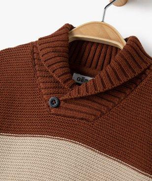 Pull bébé garçon rayé à col châle vue2 - Nikesneakers(BEBE DEBT) - Nikesneakers