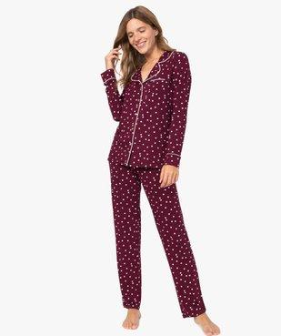 Pyjama femme deux pièces : chemise et pantalon vue1 - GEMO(HOMWR FEM) - GEMO