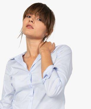 Chemise femme coupe cintrée en coton stretch vue2 - GEMO(FEMME PAP) - GEMO