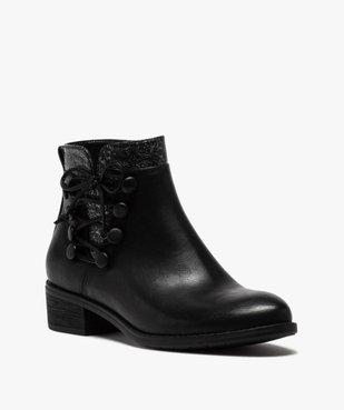 Boots femme à talon plat et laçage fantaisie vue2 - GEMO (CASUAL) - GEMO