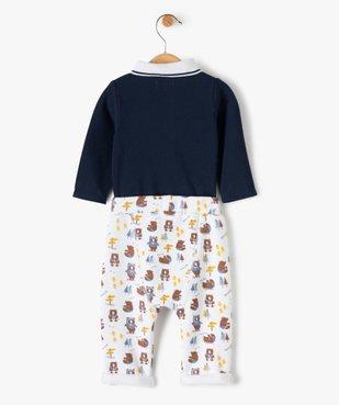 Ensemble bébé garçon 2 pièces : body + pantalon motif ours vue4 - GEMO(BB COUCHE) - GEMO