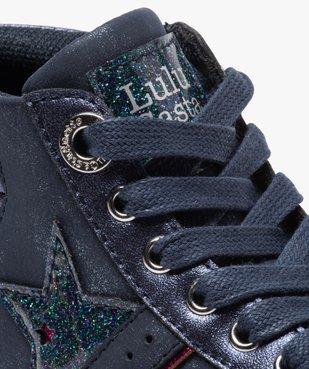 Baskets fille mid-cut zippées à paillettes – Lulu Castagnette vue6 - LULU CASTAGNETT - Nikesneakers