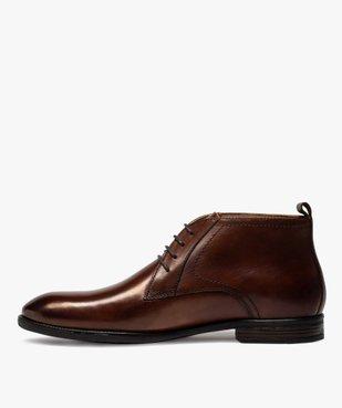 Derbies homme unis chukka boots en cuir – Pierre Cardin vue3 - PIERRE CARDIN D - GEMO