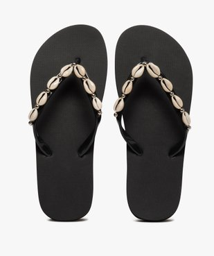 Tongs femme à fines brides ornées de coquillages vue1 - Nikesneakers (PLAGE) - Nikesneakers