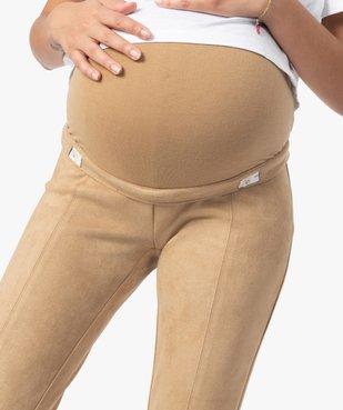 Pantalon de grossesse en suédine vue2 - GEMO (MATER) - GEMO