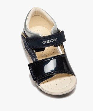 Sandales bébé fille à scratch détails vernis - Geox vue5 - GEOX - GEMO