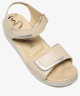 Sandales femme confort à brides scratch – 5 Zones vue5 - 5 REFLEX ZONES - GEMO