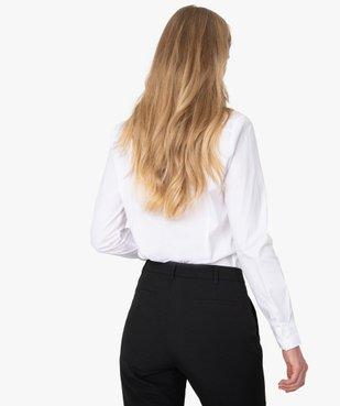 Chemise femme cintrée à manches longues vue3 - GEMO(FEMME PAP) - GEMO