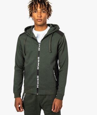 Sweat homme zippé avec empiècements épaules - Kwell by Soprano vue1 - KWELL - GEMO