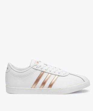 Baskets femme bicolores à lacets – Adidas Courtset vue1 - ADIDAS - Nikesneakers