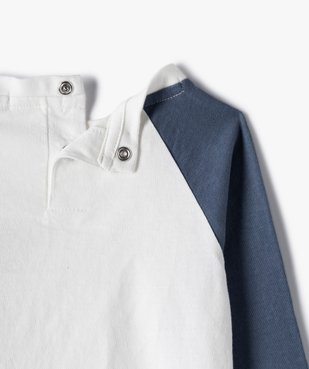 Tee-shirt bébé garçon à manches longues avec motifs (lot de 2) vue4 - GEMO(BEBE DEBT) - GEMO