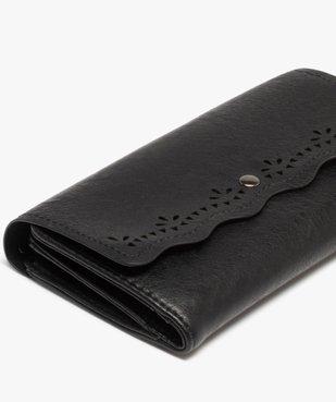 Portefeuille femme à rabat ajouré vue2 - GEMO (ACCESS) - GEMO