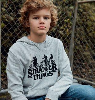 Sweat garçon à capuche avec motif – Stranger Things vue4 - STRANGER THINGS - GEMO