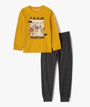 Pyjama garçon bicolore avec motif sur l'avant vue1 - GEMO (ENFANT) - GEMO