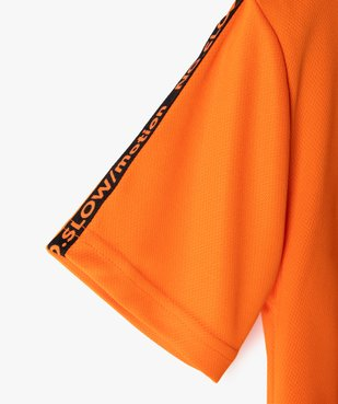 Tee-shirt garçon sport en maille légère à manches courtes  vue2 - GEMO (ENFANT) - GEMO