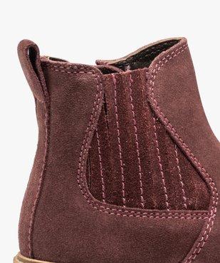 Boots fille zippées dessus cuir retourné style chelsea vue6 - Nikesneakers (ENFANT) - Nikesneakers