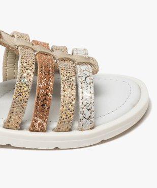 Sandales fille à brides multiples métallisées vue6 - GEMO (ENFANT) - GEMO