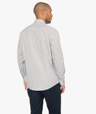 Chemise homme à motifs coupe slim vue3 - GEMO (HOMME) - GEMO