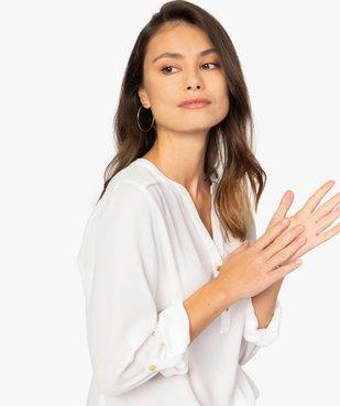 Blouse femme en voile avec manches retroussables vue2 - GEMO(FEMME PAP) - GEMO