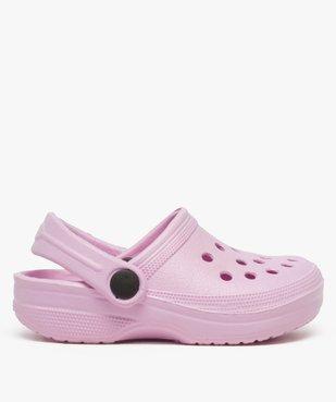 Sabots fille unis perforés avec bride vue1 - Nikesneakers (ENFANT) - Nikesneakers