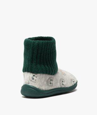 Chaussons bébé garçon boots en maille et velours vue4 - GEMO C4G BEBE - GEMO